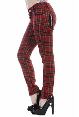 BANNED BANNED - Red Tartan Checkered Pants