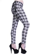 BANNED - White Checkered Pants