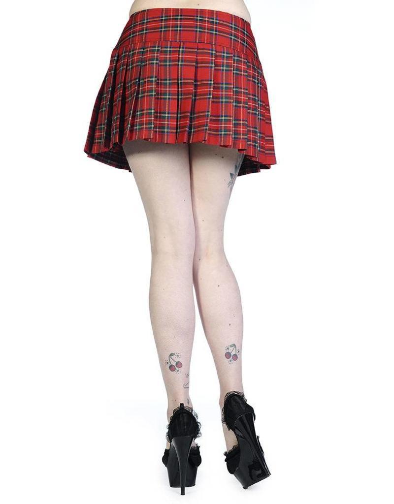 BANNED BANNED - Red Tartan Mini Skirt