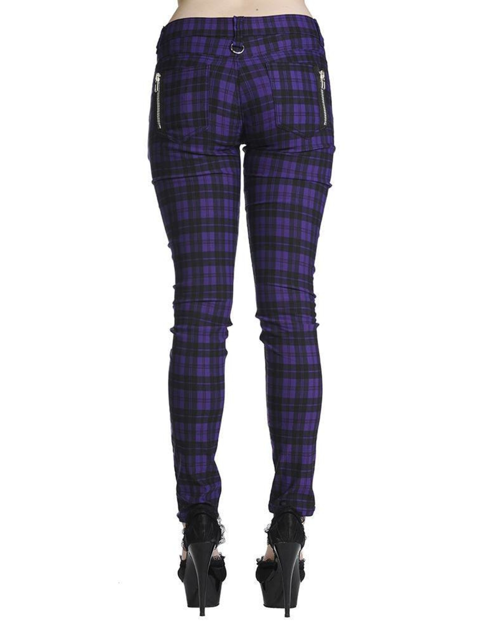 BANNED - Purple Checkered Pant