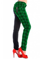 BANNED - Half Checkered Green Pant