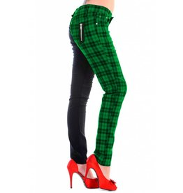 BANNED BANNED - Half Checkered Green Pant