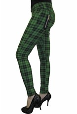 BANNED  - Green Checkered Pants