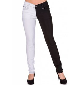 BANNED BANNED - Half Black/White Pants