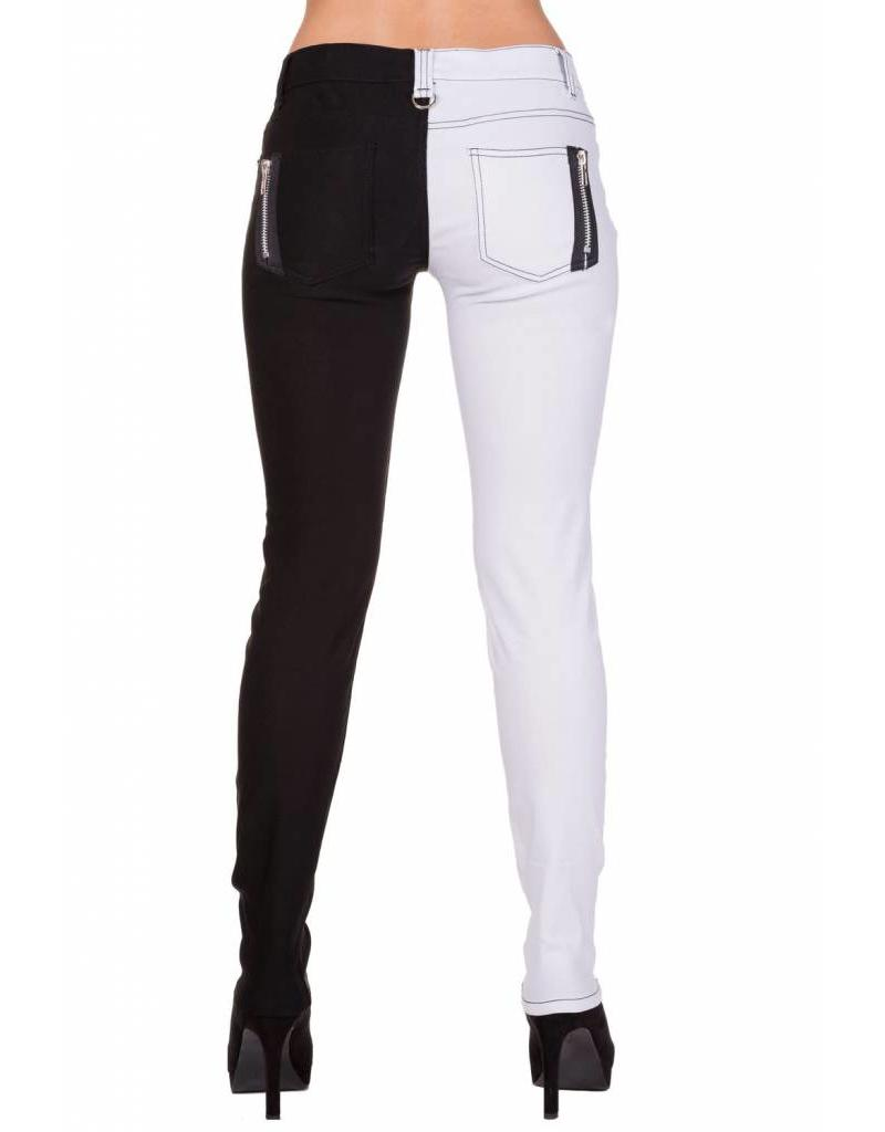 BANNED - Half Black/White Pants
