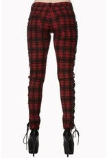 BANNED - Escaping Darkness Tartan Skinny Trouser
