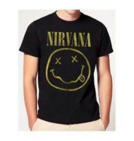 Nirvana Logo Gold Print Shirt
