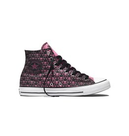 CONVERSE CHUCK TAYLOR HI BLACK/CHATEAU ROSE/WHITE C16CLASH-155073C