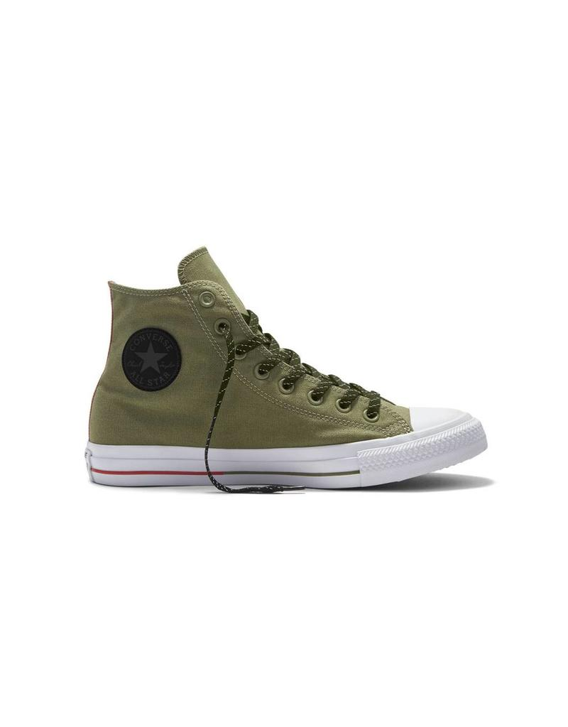 CONVERSE CHUCK TAYLOR HI FATIGUE GREEN/WHITE/SIGNAL RED C16GRE-153795C