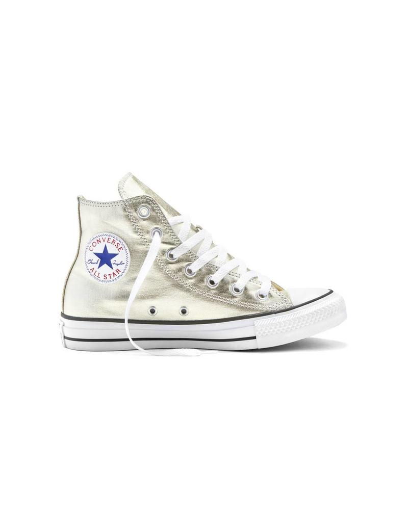 CONVERSE CHUCK TAYLOR HI METALLIC LIGHT GOLD/WHITE/BLACK C16GOLD-153178C