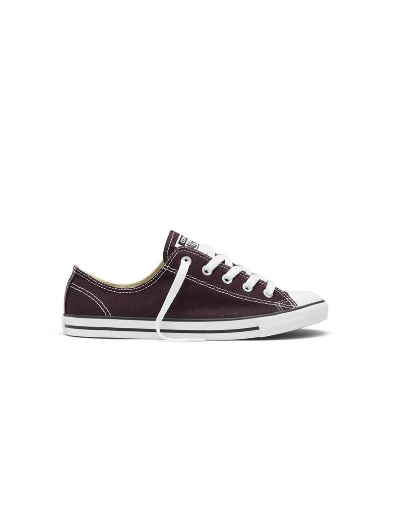 CONVERSE CHUCK TAYLOR DAINTY CANVAS COLOR OX BLACK CHERRY C640CAN-553371C