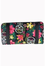 BANNED - Hibiscus Skull Wallet