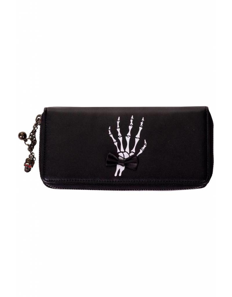 BANNED - Skeleton Hands  Bows Wallet
