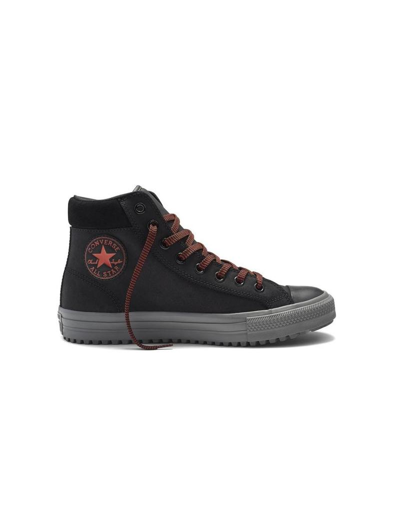 CONVERSE CHUCK TAYLOR BOOT PC HI BLACK/CHARCOAL GREY/RED C633B-153672C