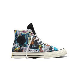 CONVERSE CHUCK TAYLOR 70 HI BLACK/FRESH YELLOW/EGRET C16BAT -155359C