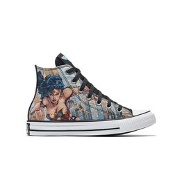 CONVERSE CHUCK TAYLOR HI CANVAS WHITE/BLACK/BLUE DC COMICS WONDER WOMAN C16WOW-154900C