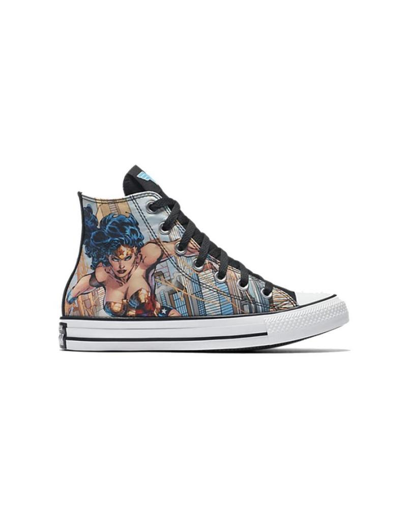 CONVERSE CHUCK TAYLOR HI CANEVAS WHITE/BLACK/BLUE DC COMICS WONDER WOMAN C16WOW-154900C