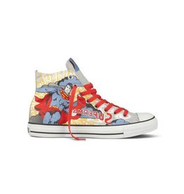 CONVERSE CHUCK TAYLOR HI GREY BLUE DC COMICS SUPERMAN C12SUP-132441C