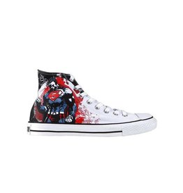 CONVERSE CHUCK TAYLOR HI CANVAS WHITE RED DC COMICS SUPERMAN C12SWR-119938