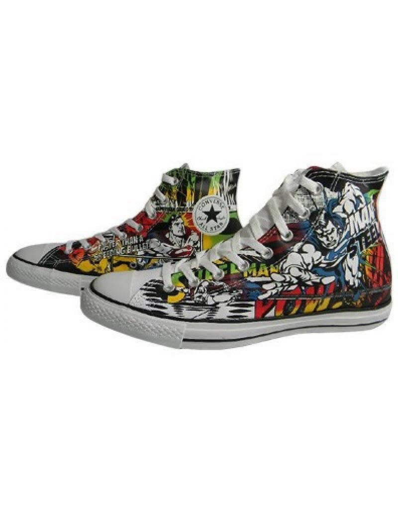 CONVERSE CHUCK TAYLOR  HI CANVAS WHITE MULTI DC COMICS SUPERMAN C12SWM-120822C