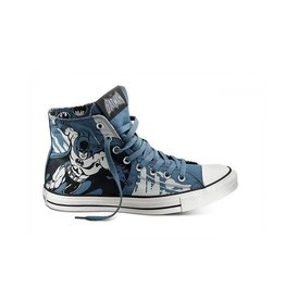 CONVERSE CHUCK TAYLOR HI CANVAS BLUE PRINT DC COMICS BATMAN C11BAT-122136C