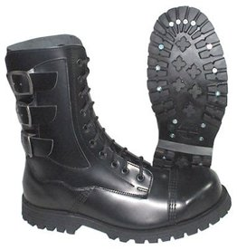UNDERGROUND UNDERGROUND BOOT BLACK 10 EYELETS STRAPS ON BACK U10TSLAYER