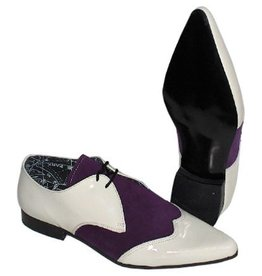 UNDERGROUND UNDERGROUND SHOE WHITE VYNIL PURPLE SUEDE UP7910