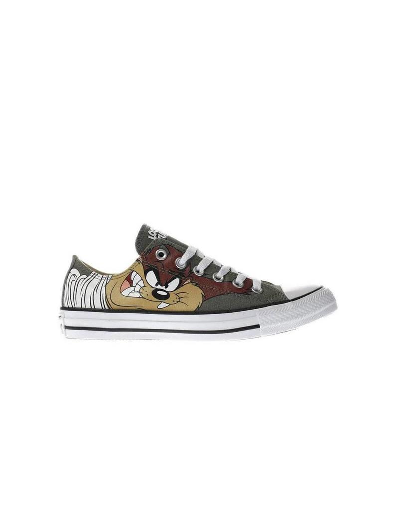 CONVERSE CHUCK TAYLOR OX OLIVE SUBMARINE/WHITE/BLACK LOONEY TUNES C11TAZ-158236F