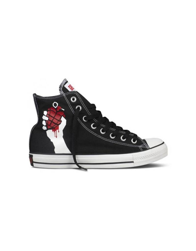 CONVERSE CHUCK TAYLOR HI GREEN DAY BLACK RED C13GDB-135837C