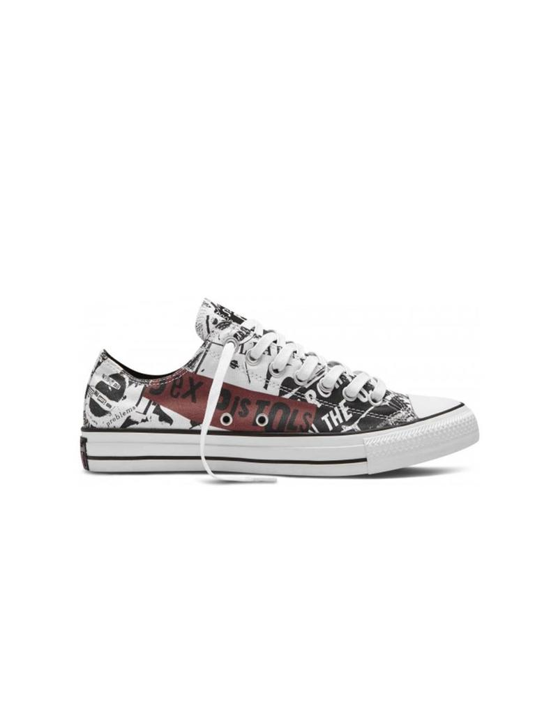 CONVERSE Chuck Taylor All Star  OX SEX PISTOLS WHITE/BLAC/RED C10SPI-151195C