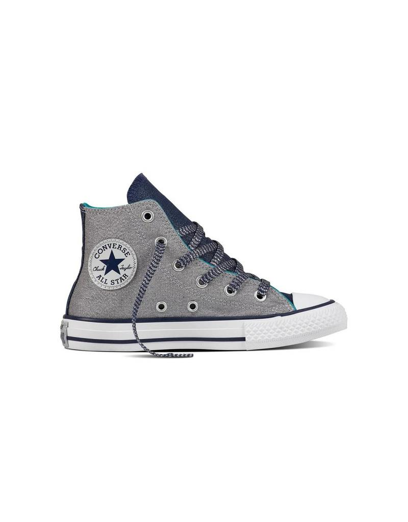 CONVERSE CHUCK TAYLOR HI WOLF GREY/MIDNIGHT NAVY/WHITE CWGS-658062C