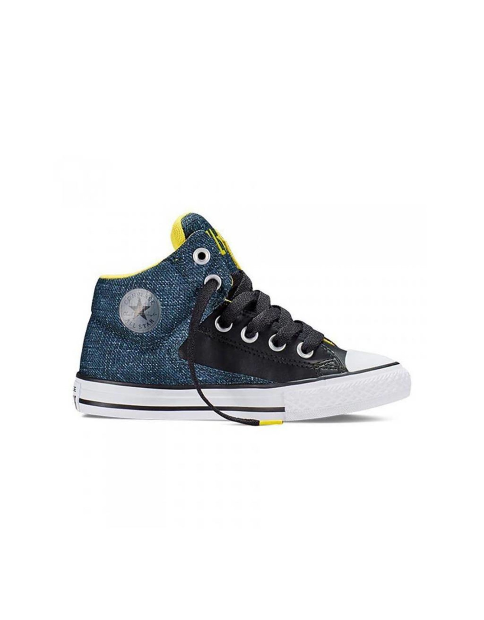 CONVERSE CHUCK TAYLOR ALL STAR HIGH STREET HI BLACK YELLOW CVHSWH-651785C