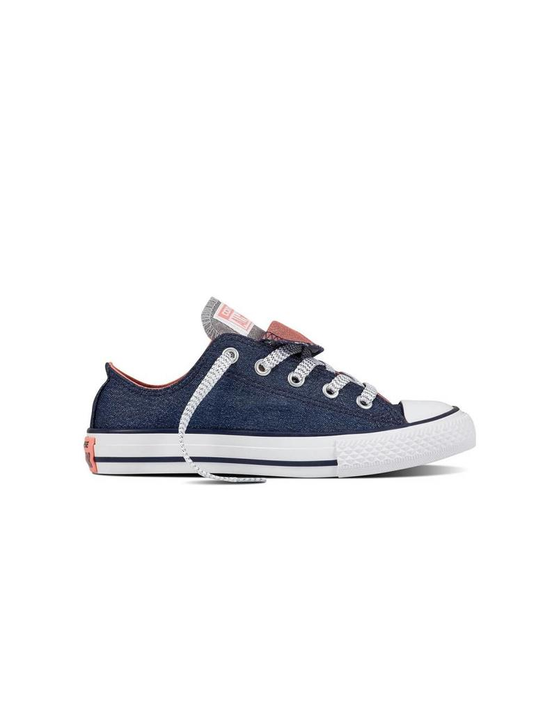 CONVERSE CHUCK TAYLOR DOUBLE TONGUE OX MIDNIGHT NAVY CWDTN-658112C