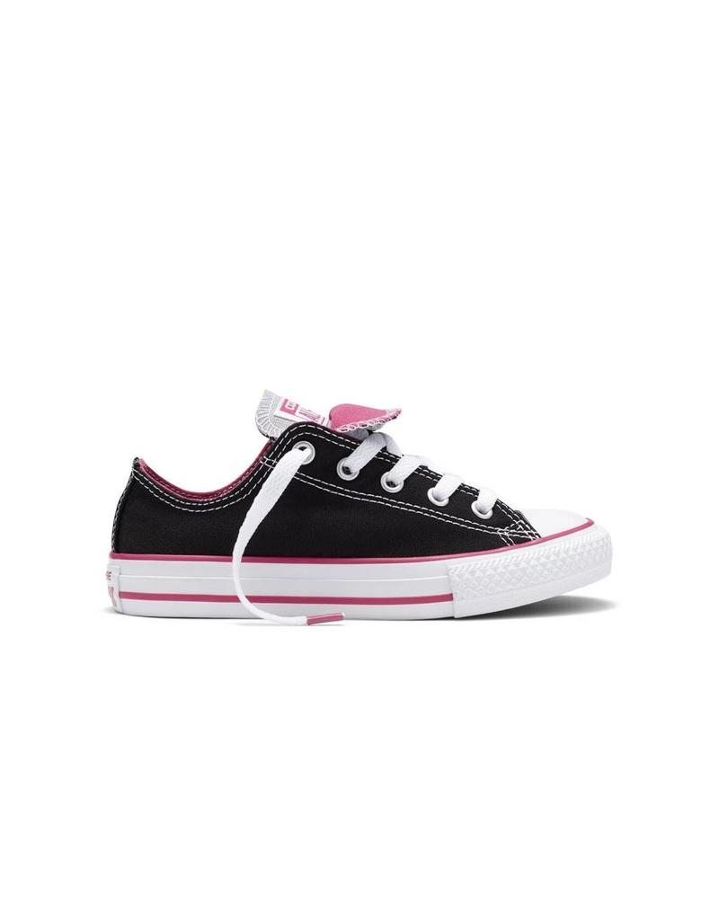 CONVERSE CHUCK TAYLOR DOUBLE TONGUE OX BLACK/PINK/WHITE CVDUH-654365C