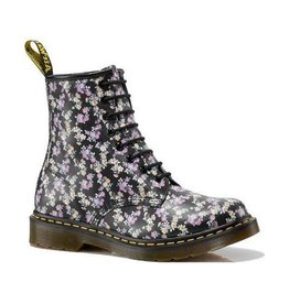 DR. MARTENS 1460 BLACK+ PURPLE FLOWERS 815BFL-R11821010