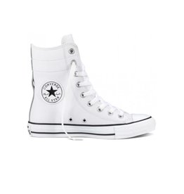 CONVERSE CHUCK TAYLOR HI-RISE XHI LEATHER WHITE BLACK CC520OP-549705C