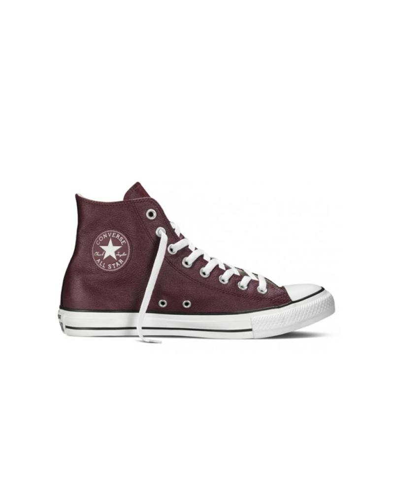 CONVERSE CHUCK TAYLOR HIGHT BORDEAUX BLACK WHITE LEATHER CC15BO-149491C