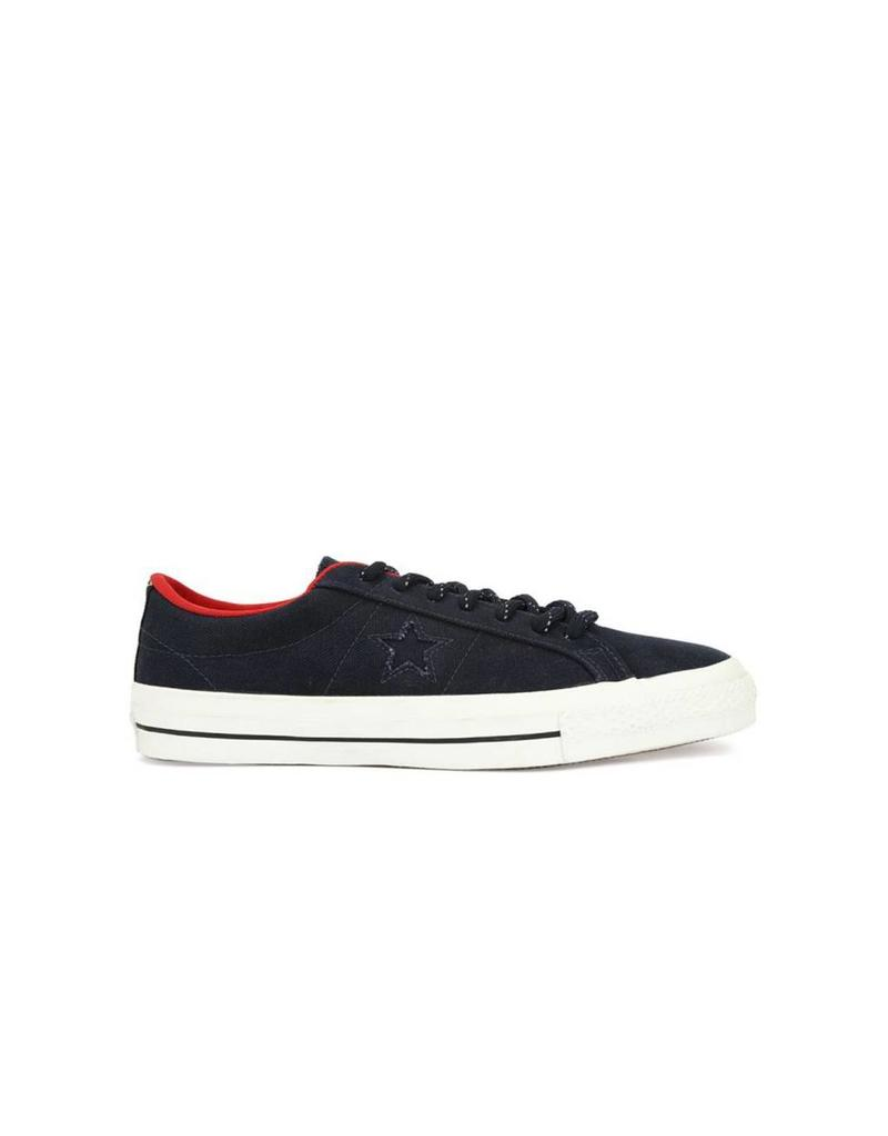 CONVERSE ONE STAR SHIELD CANVAS OX OBSIDIAN/RED C686SHI-153702C