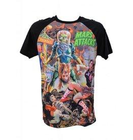 KREEPSVILLE 666 - Mars Attack Sin City Raglan T-Shirt