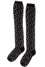SOURPUSS SOURPUSS - Socks Grey Bats