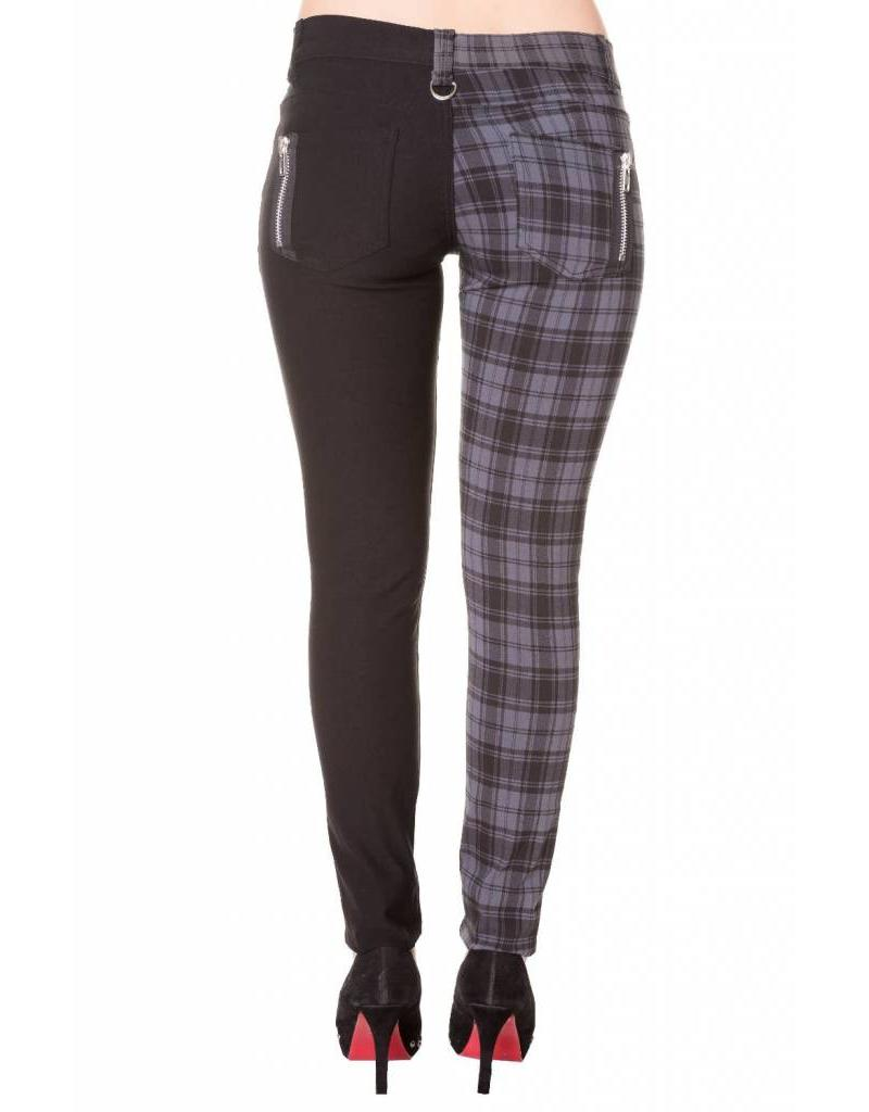 BANNED BANNED - Half Checkered Grey Pants