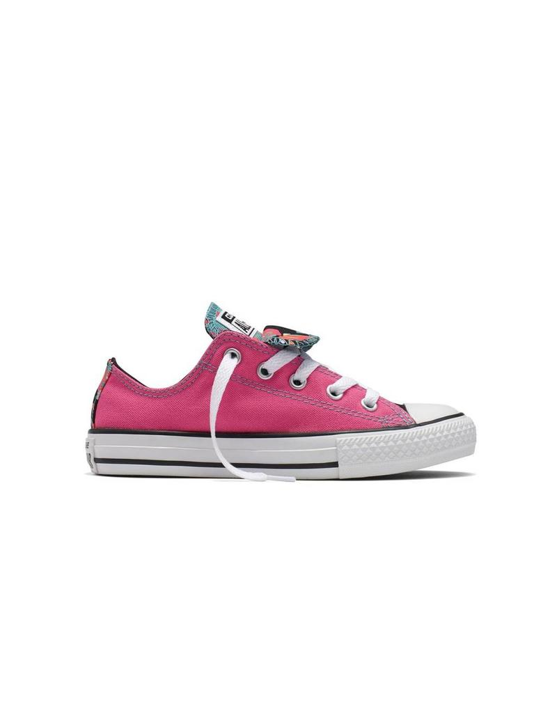 CONVERSE CHUCK TAYLOR DOUBLE TONGUE OX PINK/WHITE/BLACK CVDOUB-654226C