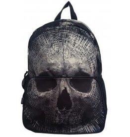 BANNED - Beige Skull BackPack