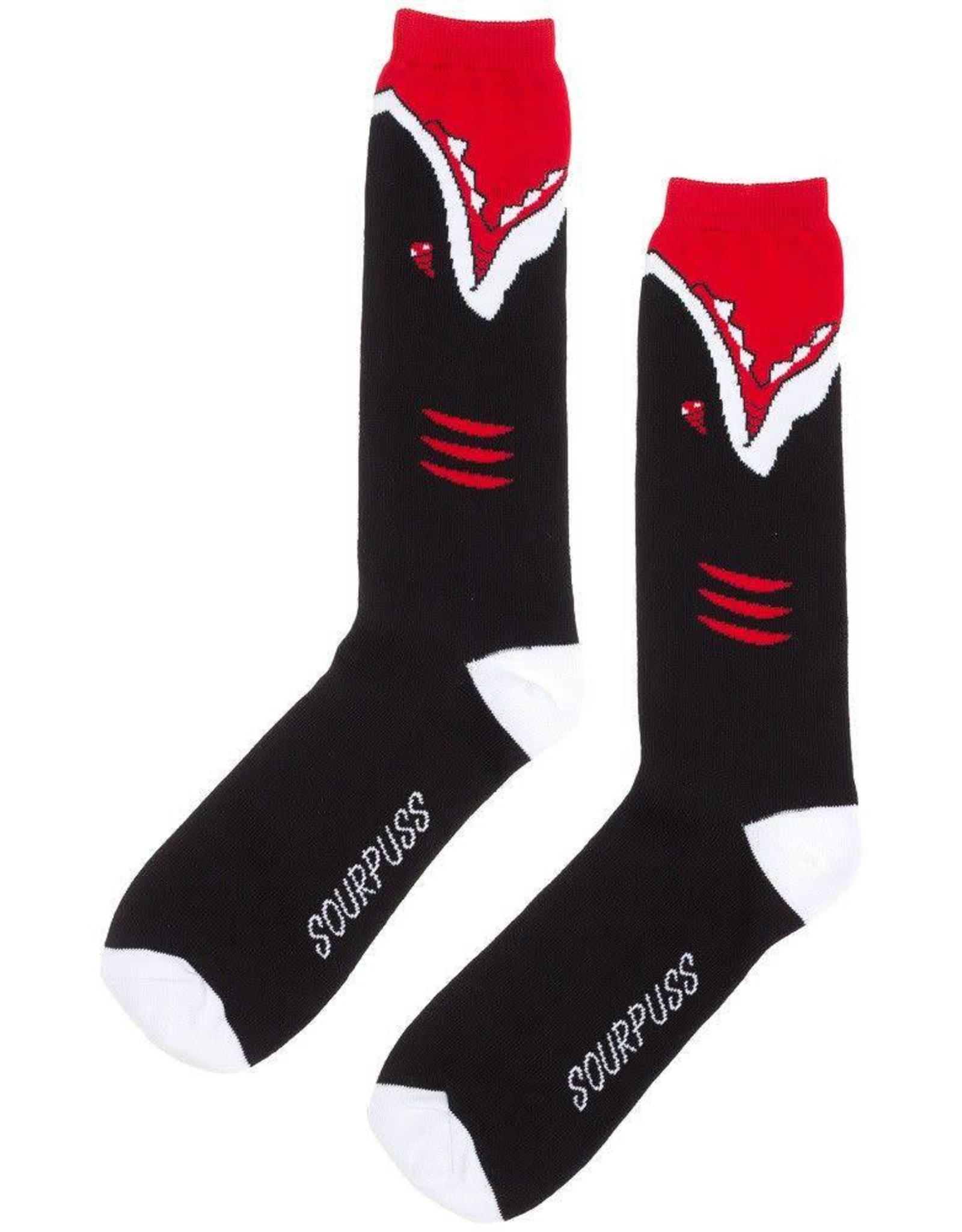 SOURPUSS SOURPUSS - Black Shark Guy Socks