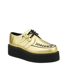 CREEPERS LEATHER GOLD TRIPLE SOLE T15GD-A8648