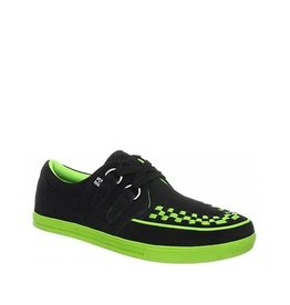 CREEPERS SUEDE BLACK LIME T14BG-A8345