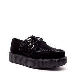CREEPERS SUEDE BLACK DOUBLE SOLE T14B-V7270