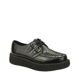 CREEPERS LEATHER BLACK DOUBLE SOLE TC13B-V6806