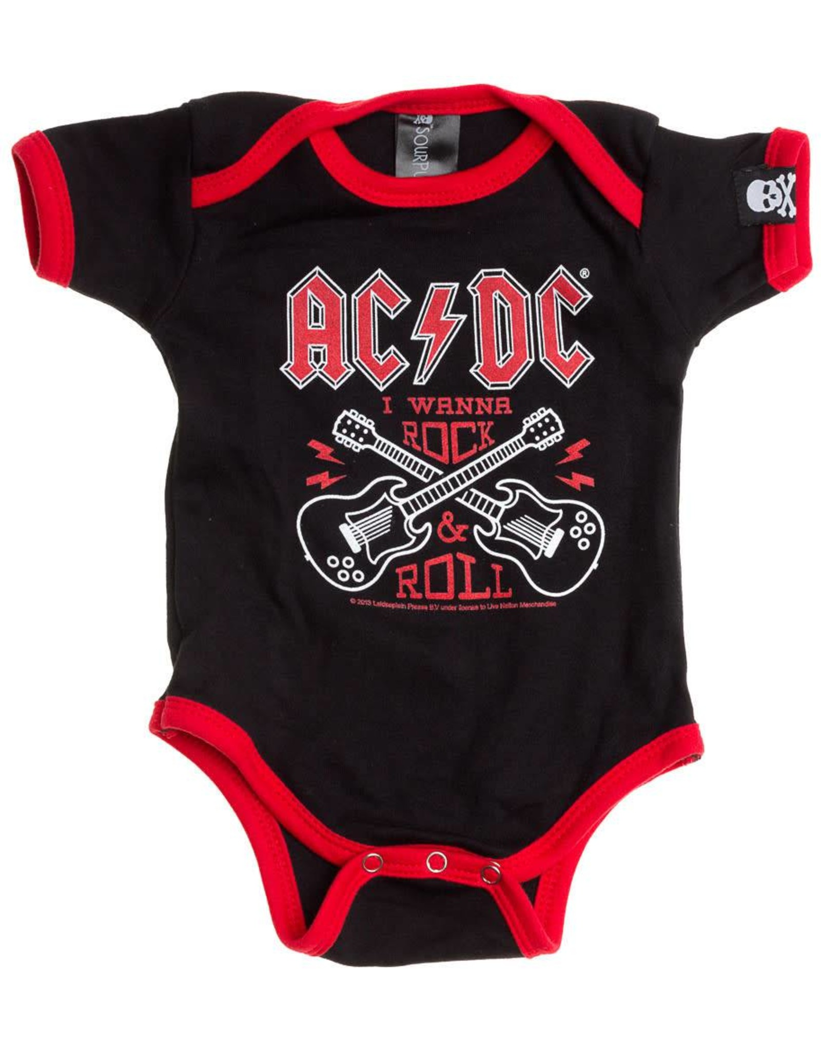 "SOURPUSS - One-piece AC/DC ""I Wanna Rock&Roll"""
