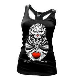 CARTEL INK CARTEL INK - Sacred Heart Doll Racerback Tank